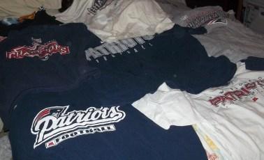 Many, MANY Patriots T-shirts